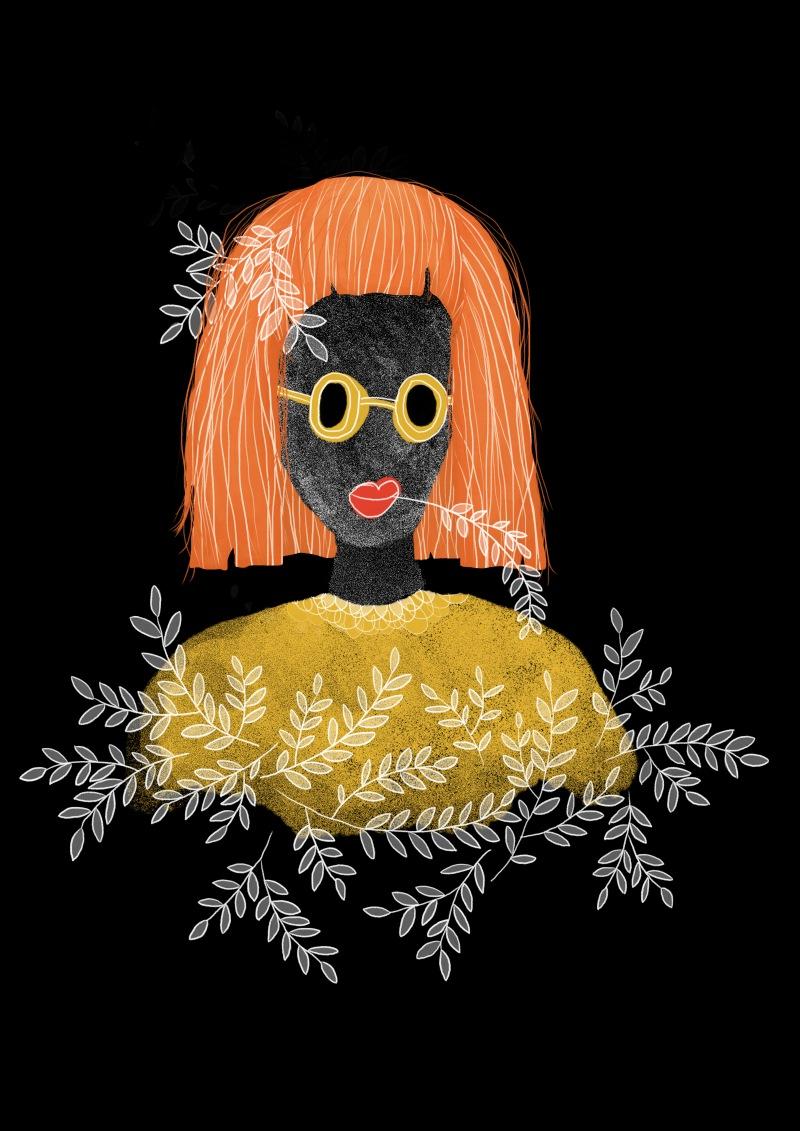 oransje hår