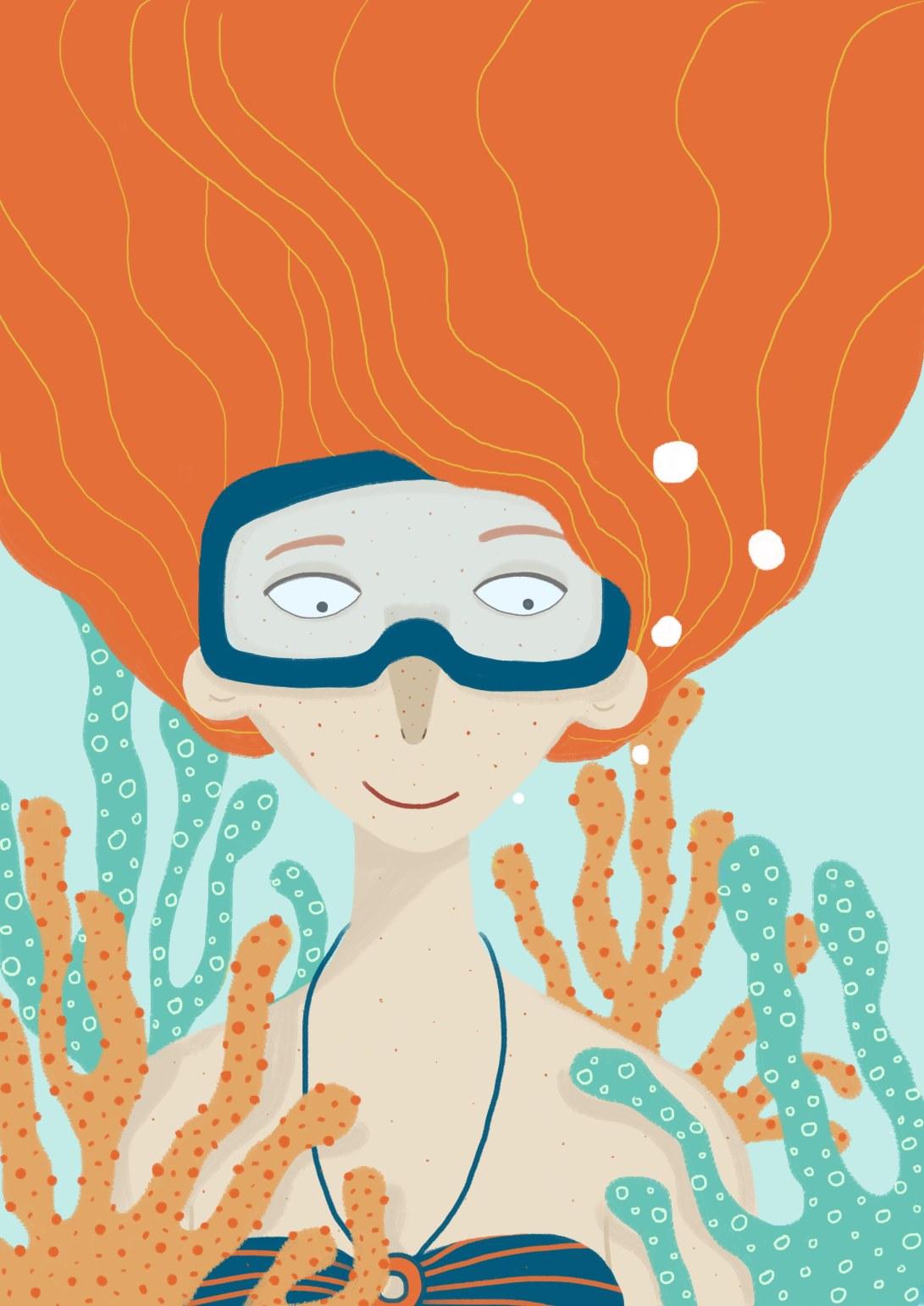 portrett under vann
