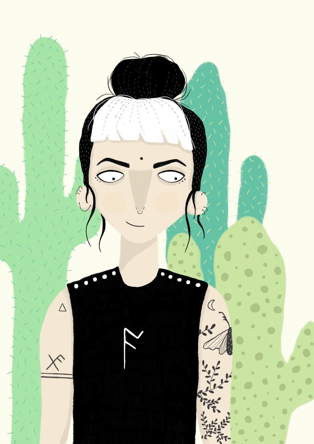 sort hvit hår